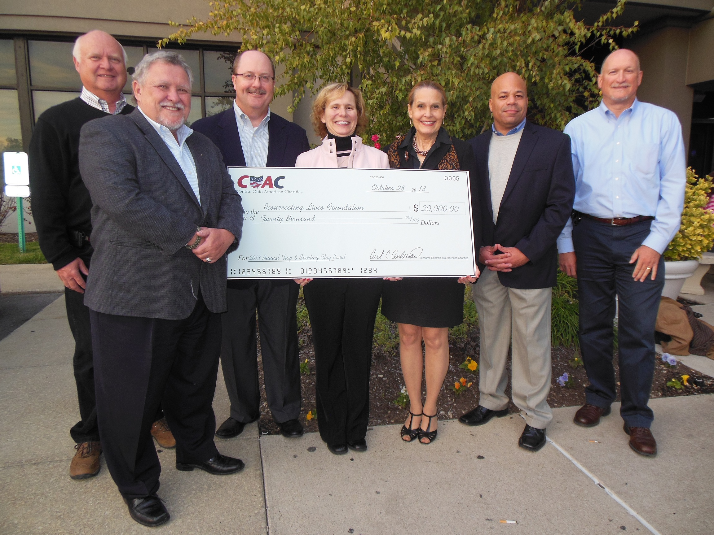 2013 COAC Donation to Resurrecting Lives - test